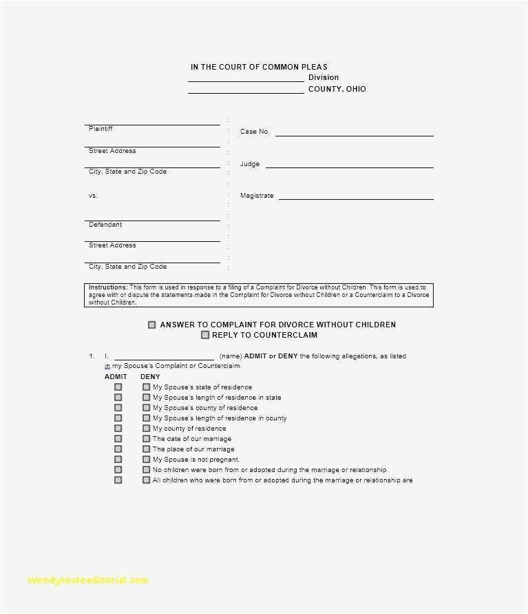 New York Divorce Forms Uncontested