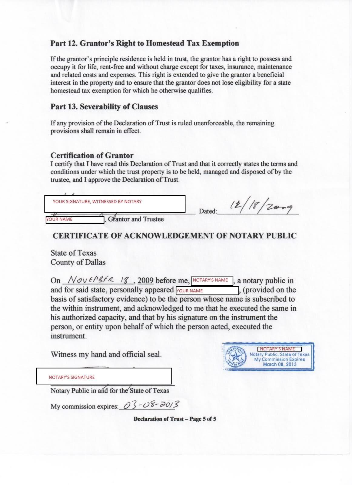 Nfa Trust Form 1