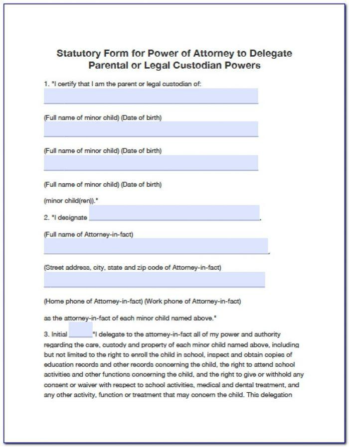 Power Of Attorney Form Arizona For Child