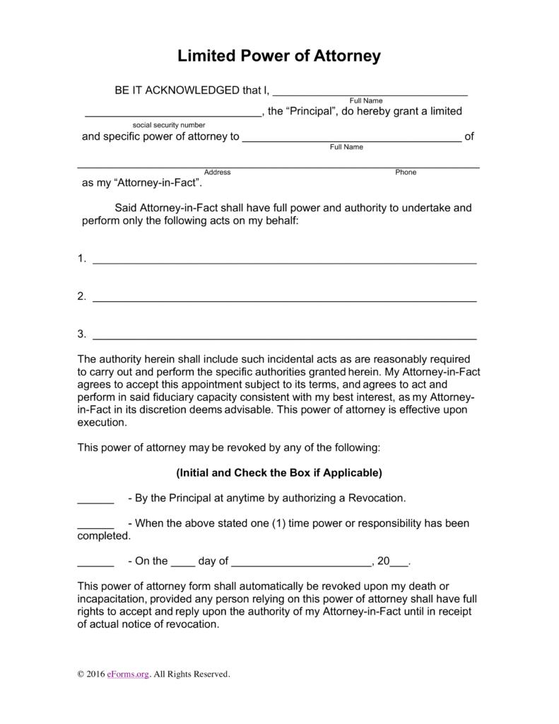 Power Of Attorney Form Tn Minor Child