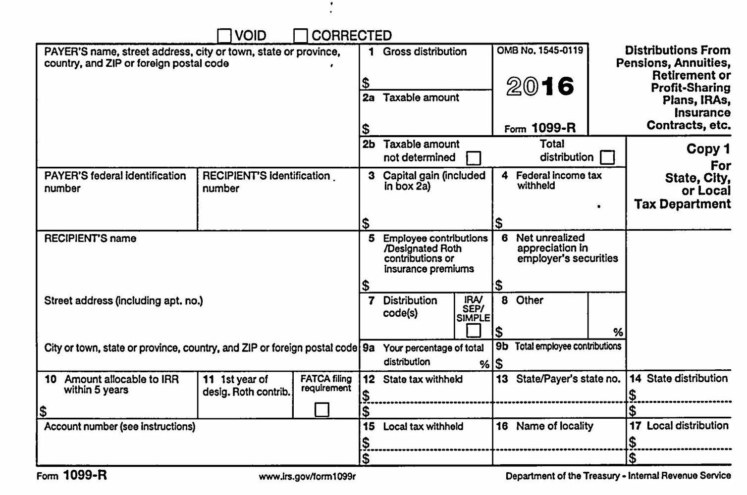 Printable 1099 Forms 2016