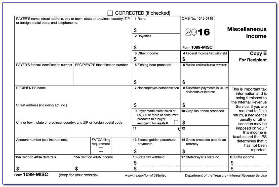 Printable 1099 Misc Tax Forms