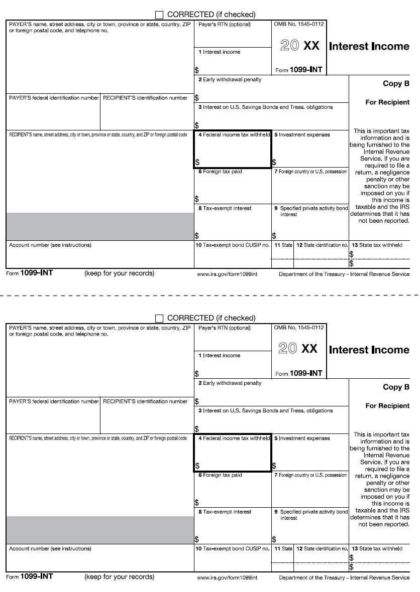Printable 1099 R Forms