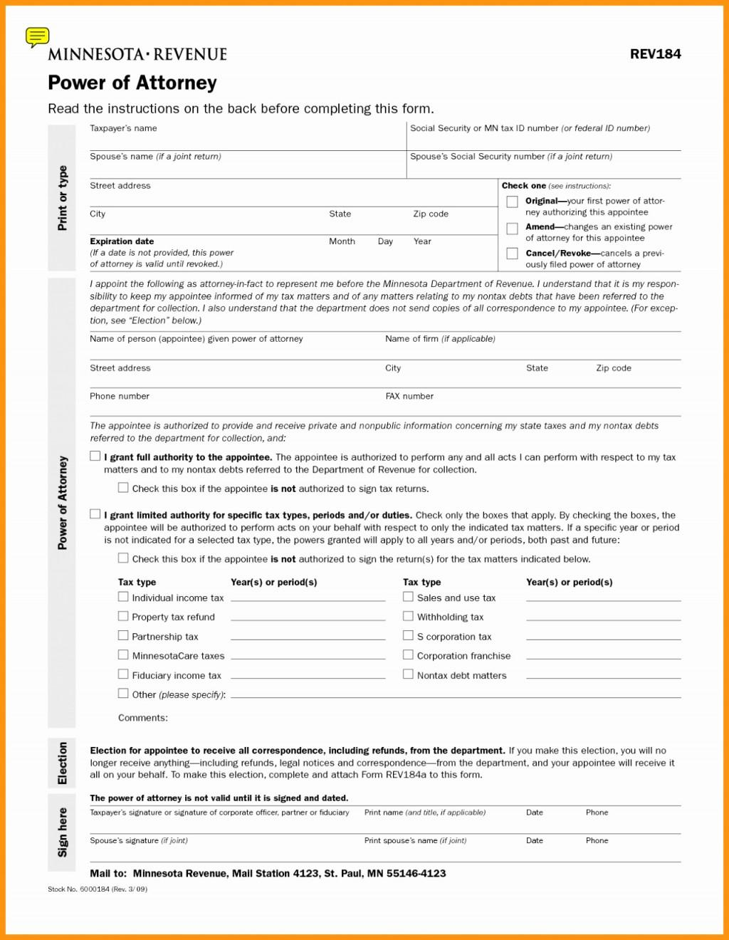 Printable Durable Power Of Attorney Form Indiana