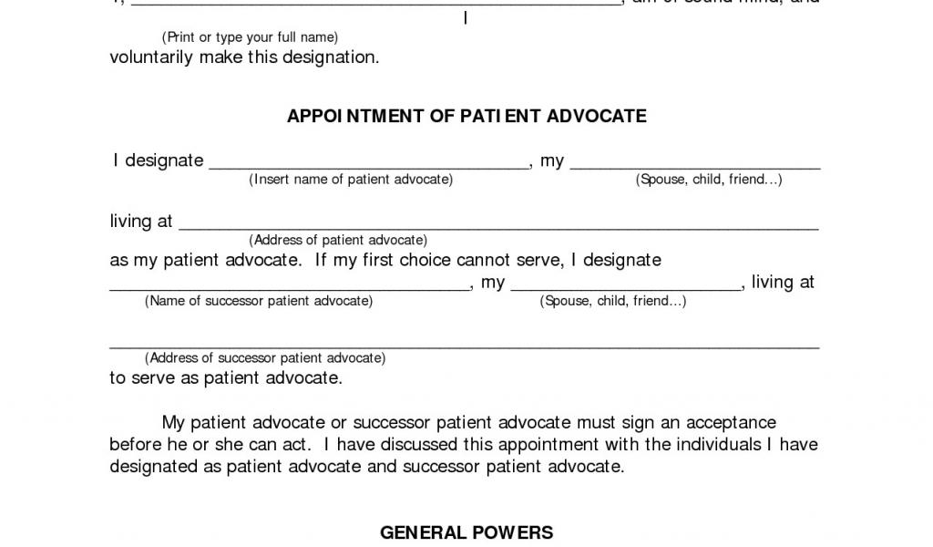 Printable Durable Power Of Attorney Form Massachusetts