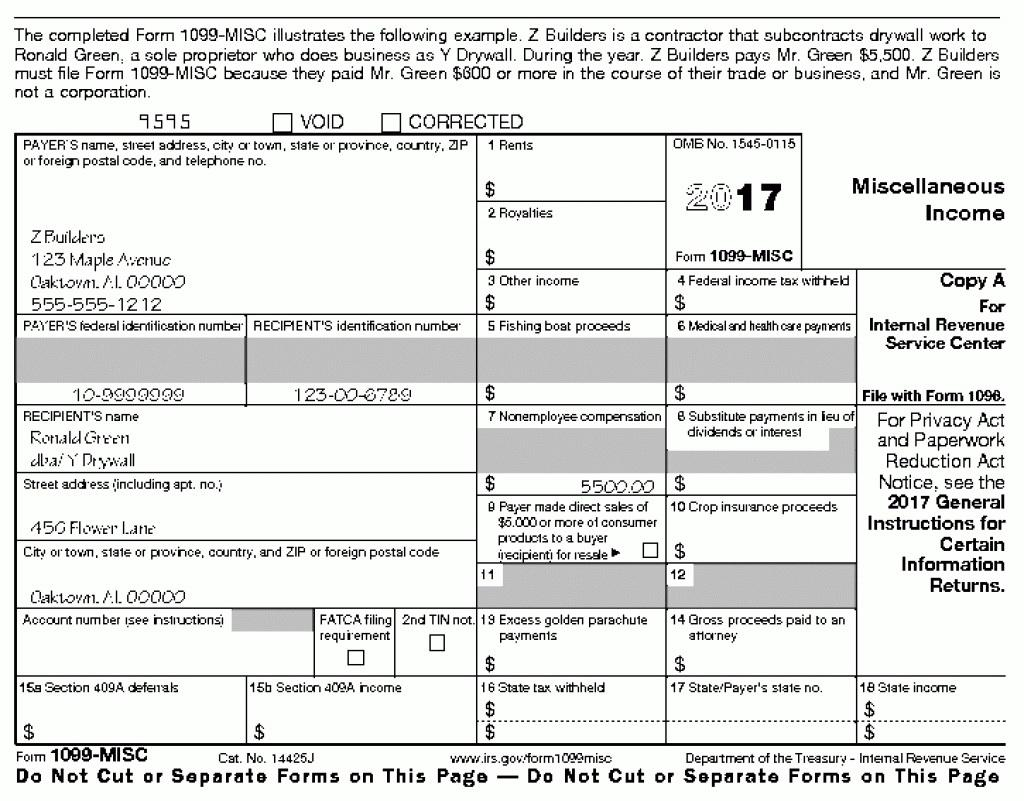 Printable W2 And 1099 Forms