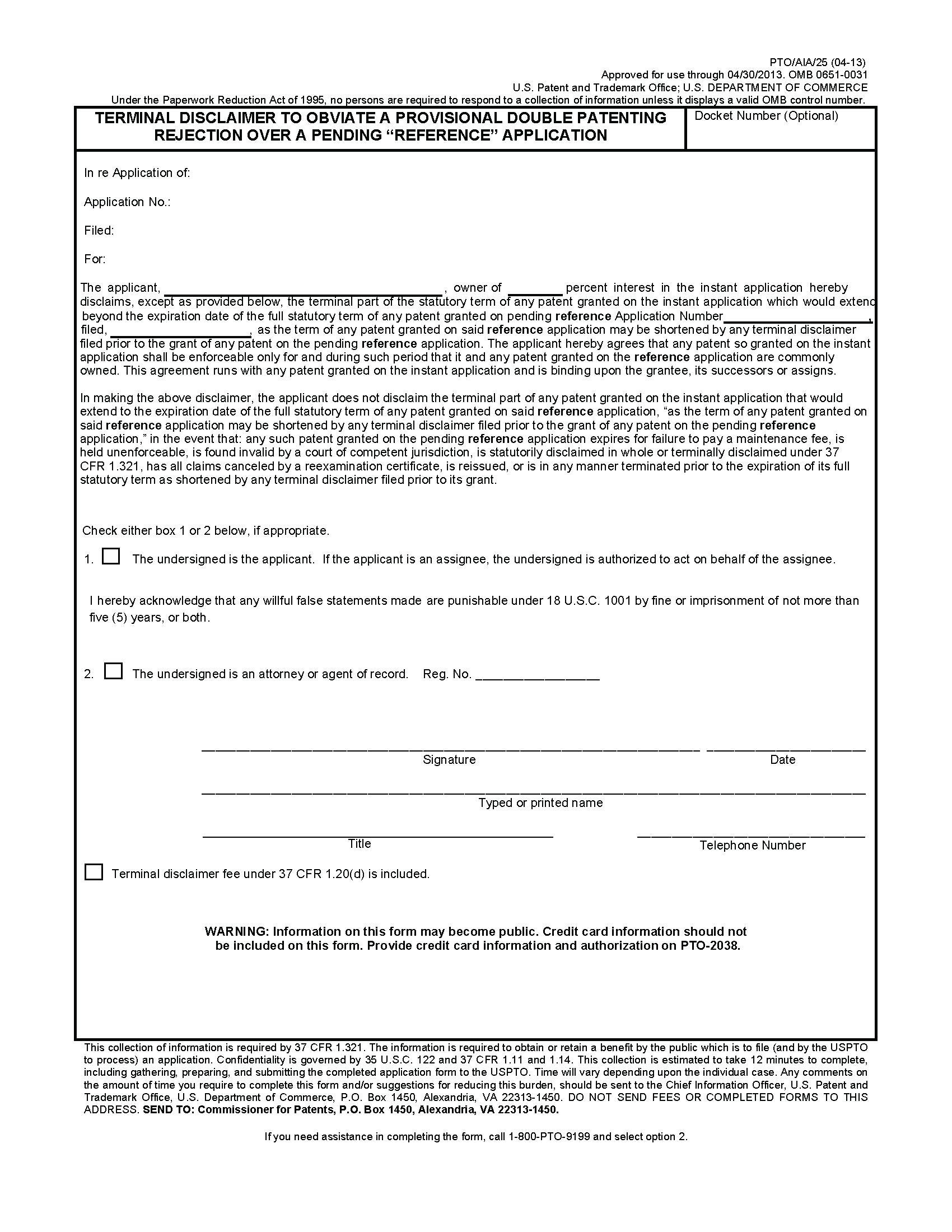 Provisional Patent Application Form South Africa