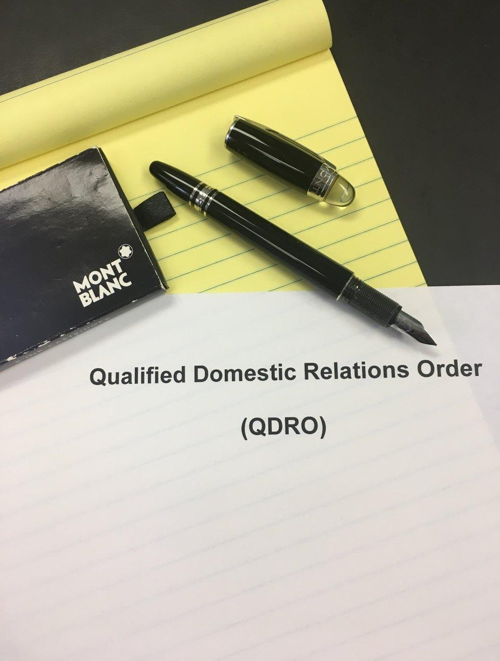 Qualified Domestic Relations Order Form Georgia