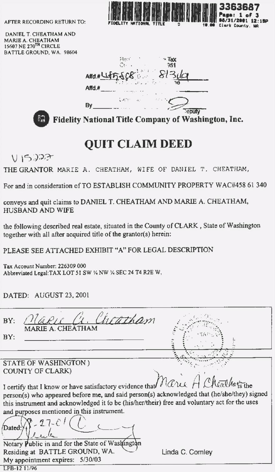 Quit Claim Deed Form Texas Sample