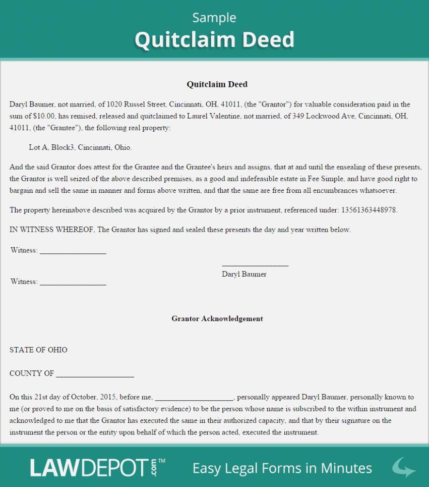 Quitclaim Deed Form Georgia