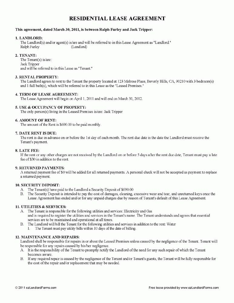 Rental Lease Contracts