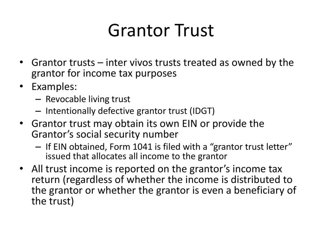 Revocable Trust Form 1041