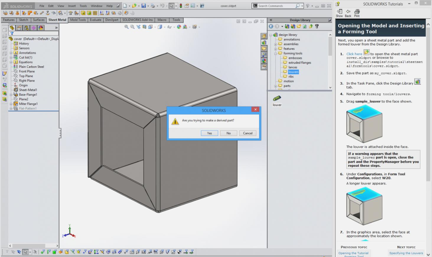 Sheet Metal Forming Tools Solidworks