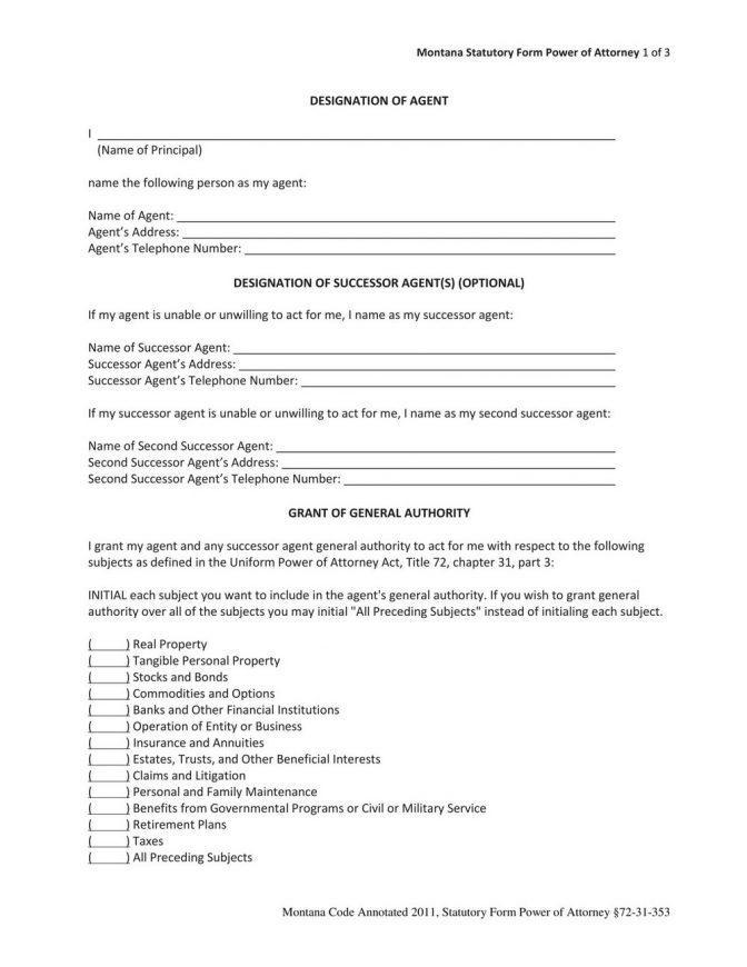 Simple Power Of Attorney Form Utah