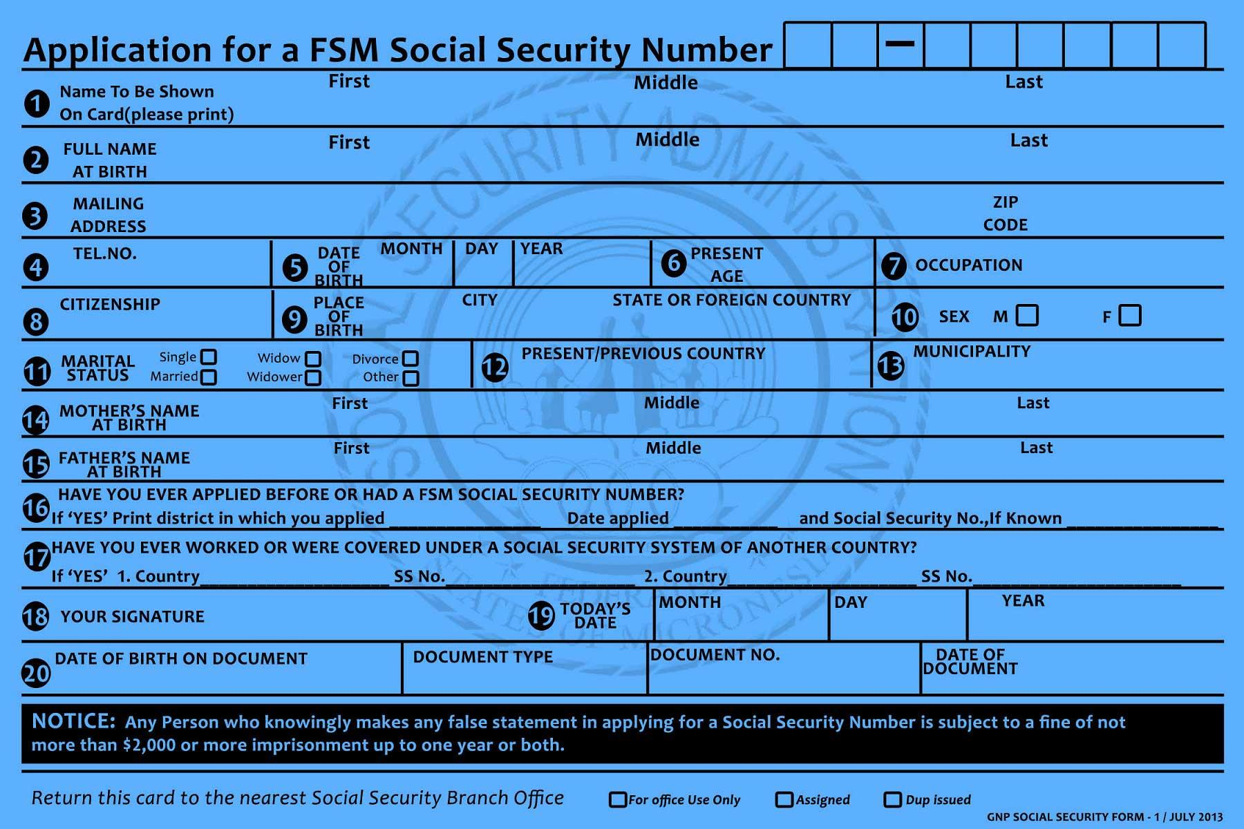Social Security Disability Application Form Ny
