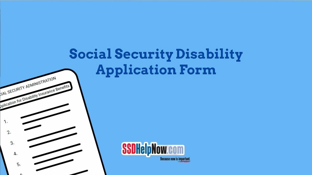 Social Security Disability Application Form