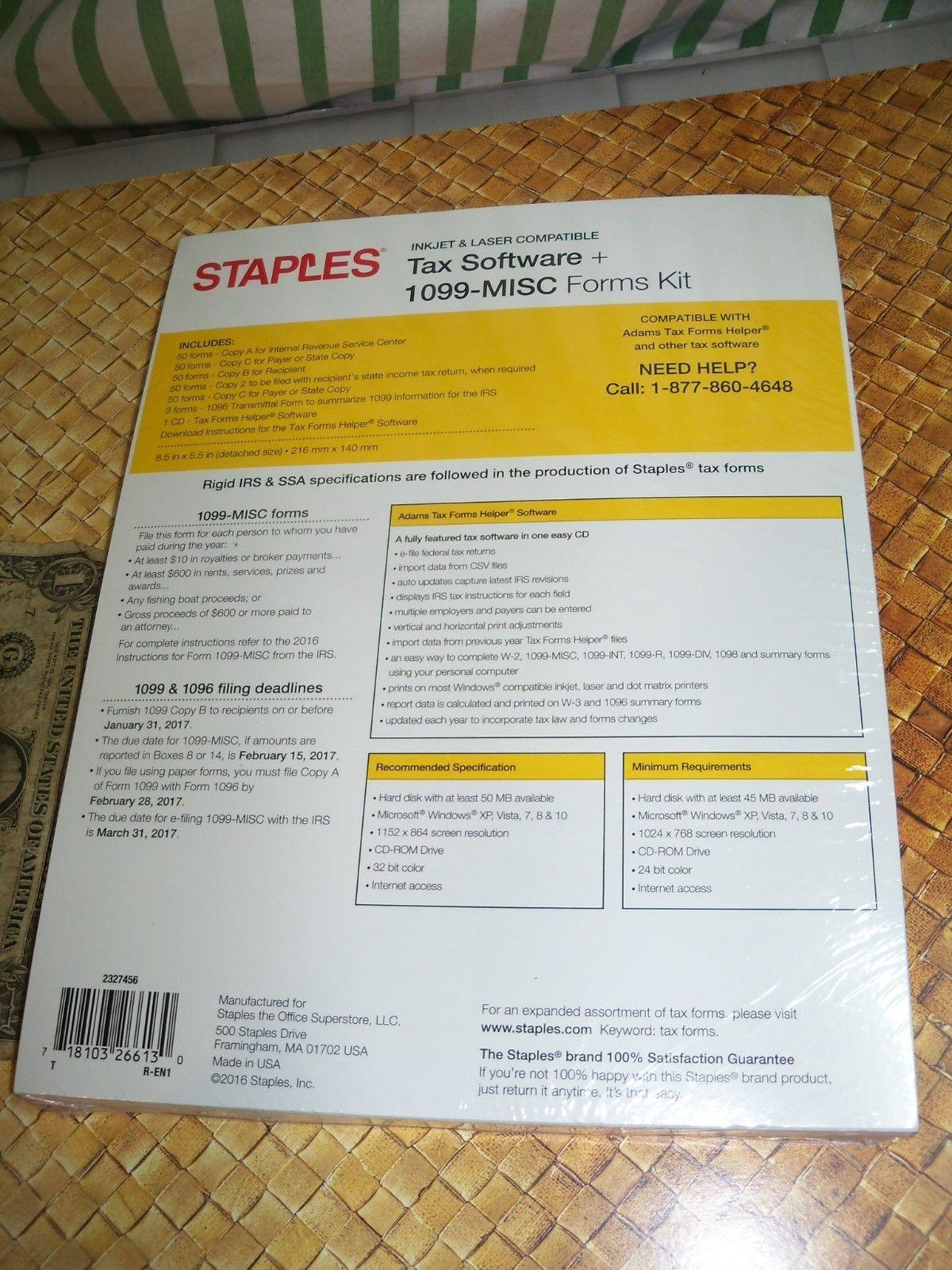 Staples W2 Tax Forms