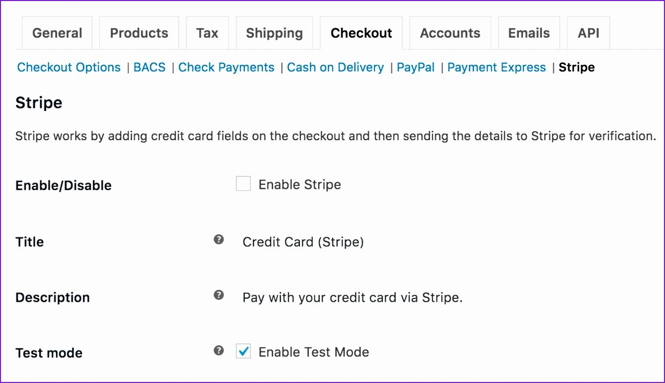 Stripe Payment Form Template