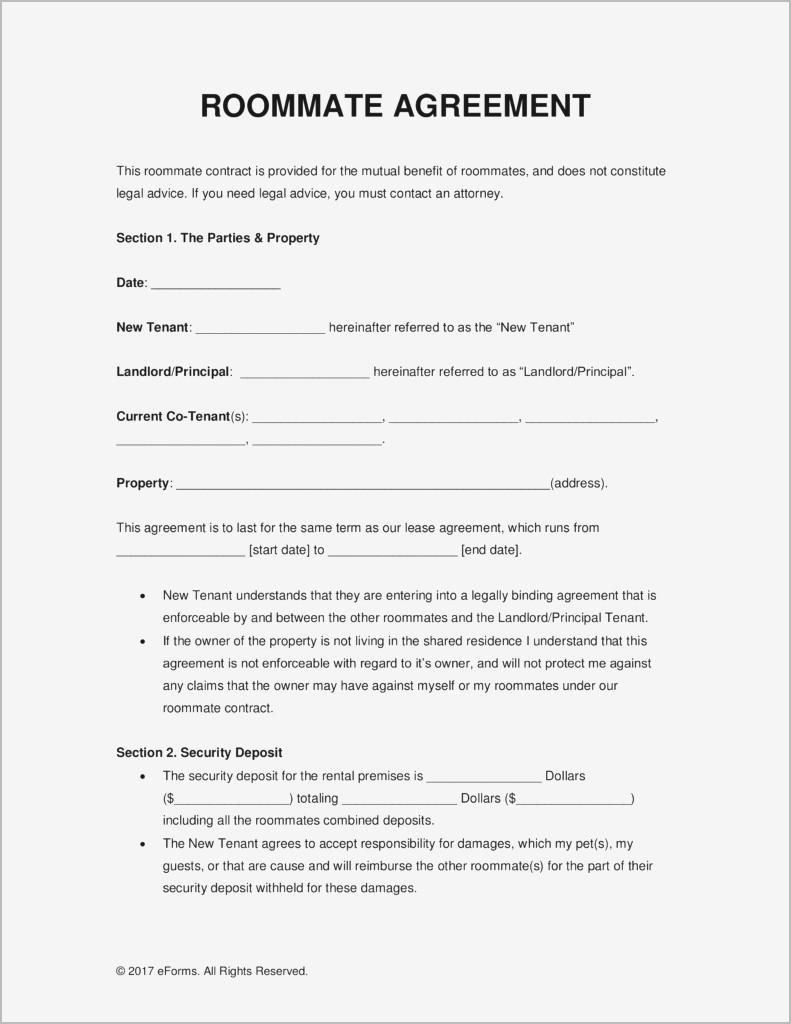 Sublet Agreement Form Uk