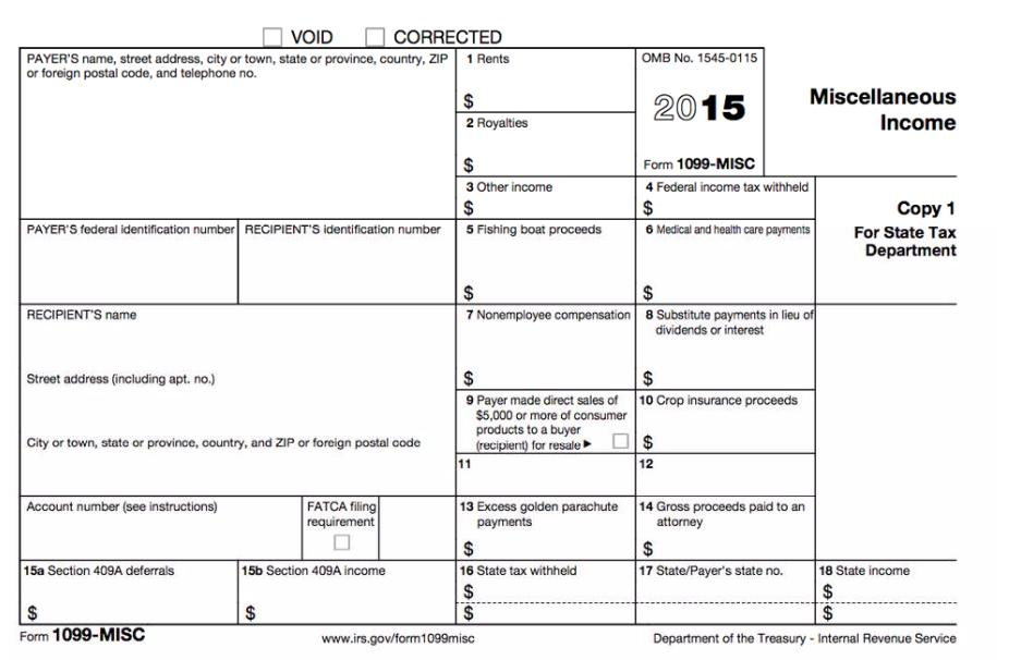 Tax 1099 Forms For Independent Contractors