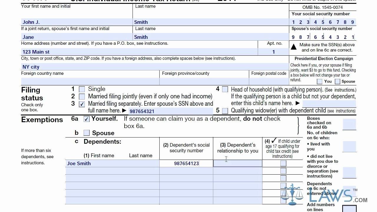Tax Form 1040a Schedule B