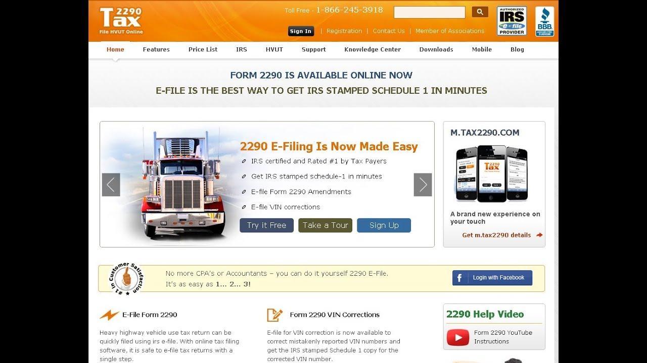 Tax Form 2290 E File