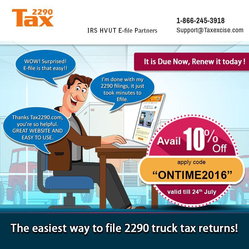 Tax Form 2290 For 2016