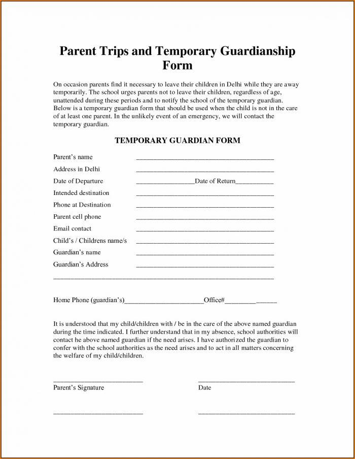 Temporary Guardianship Forms In Ga
