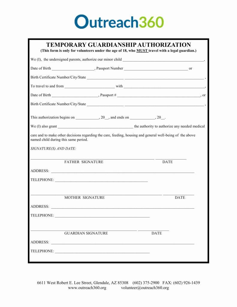 Temporary Guardianship Forms Oregon