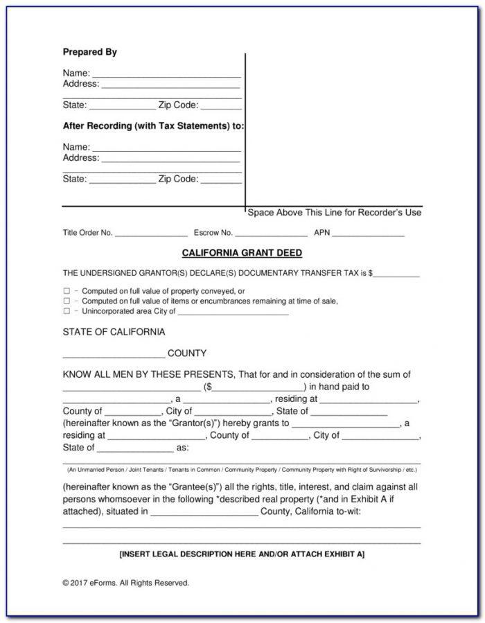 Transfer Grant Deed Form California