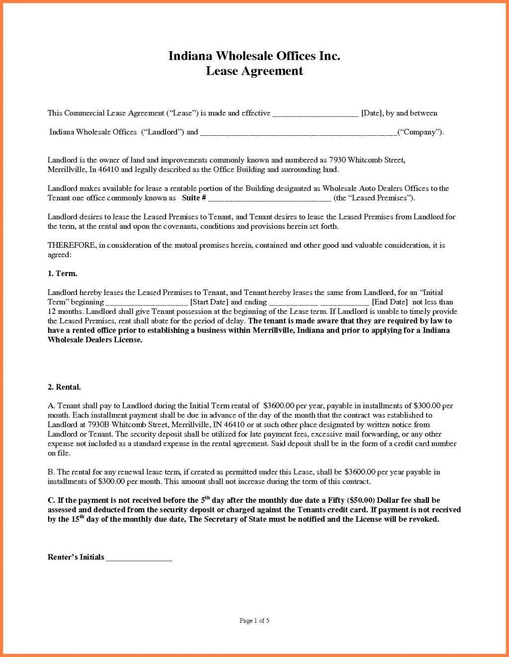 Triple Net Lease Form California
