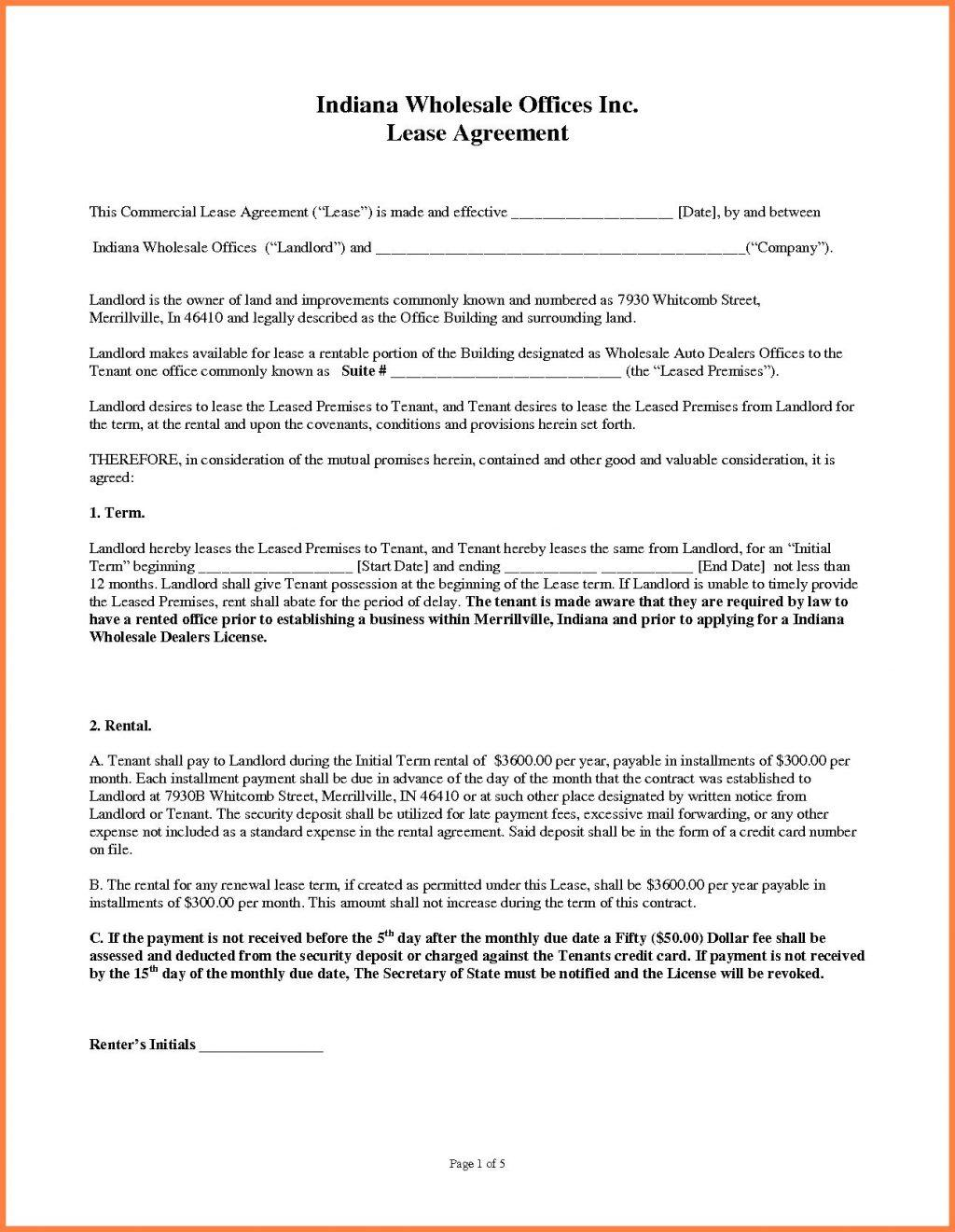 Triple Net Lease Form New York
