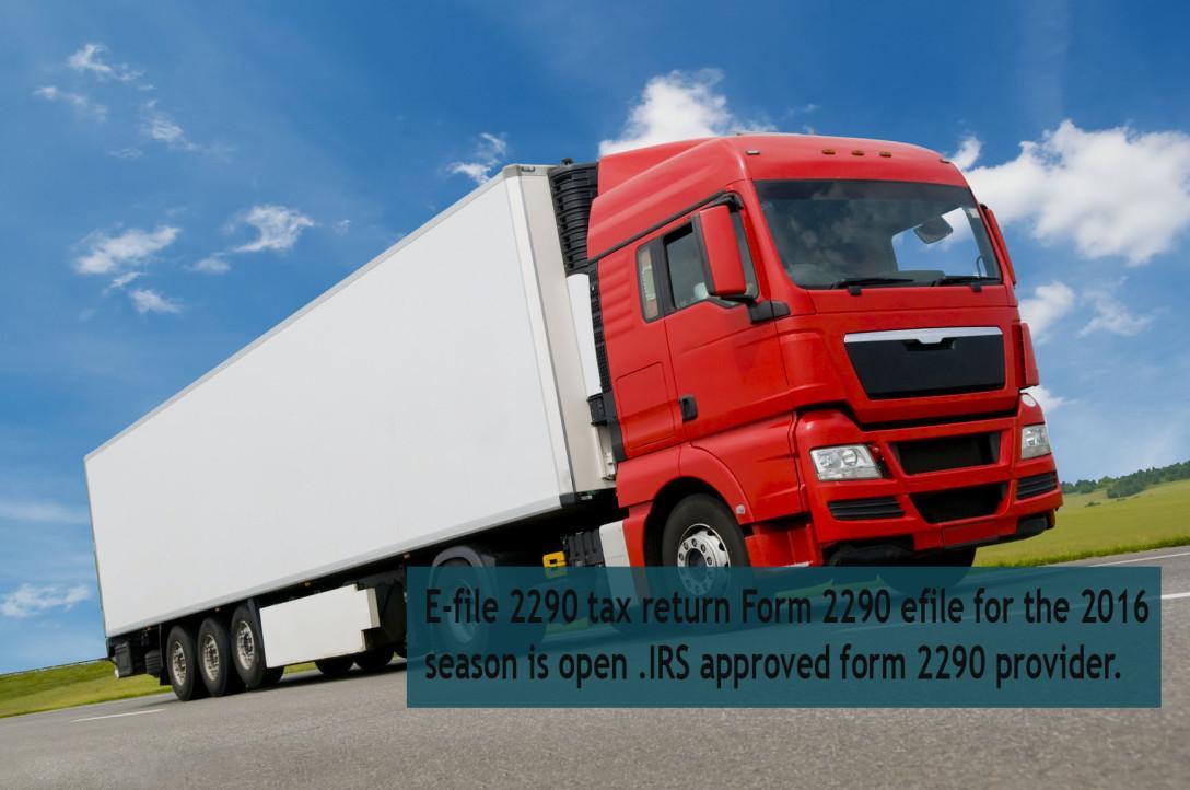 Truck Tax Form 2290