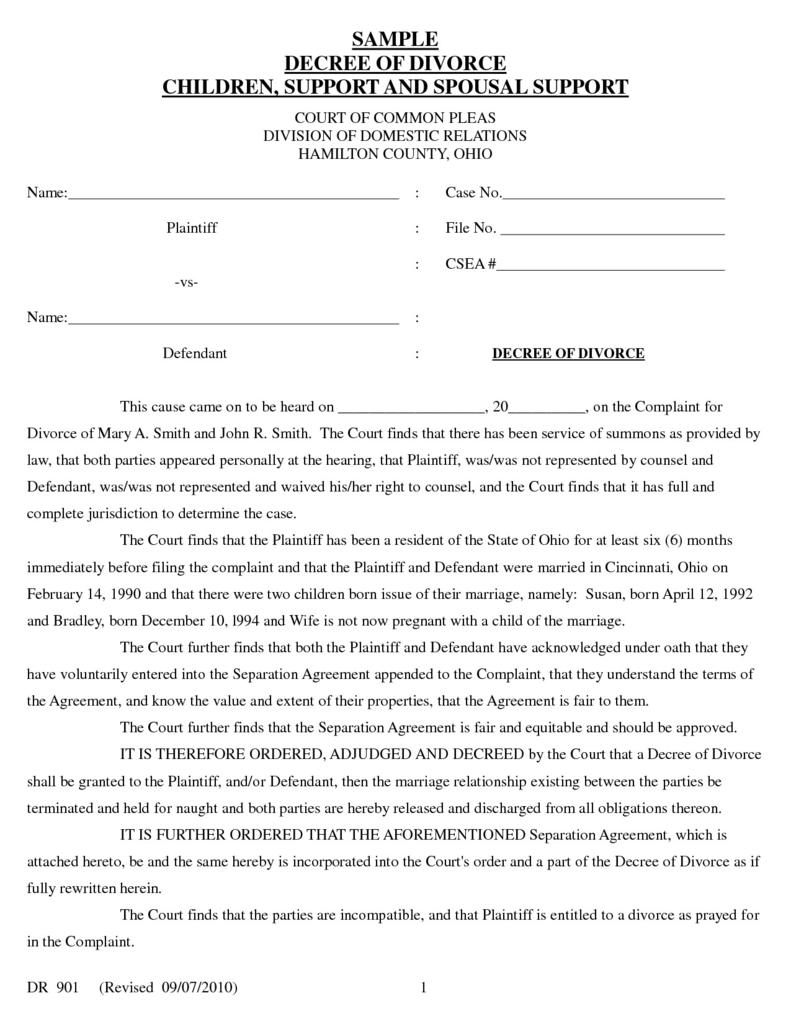 Uncontested Divorce Forms Oklahoma