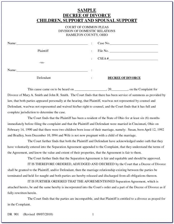 Uncontested Divorce Forms Texas Free