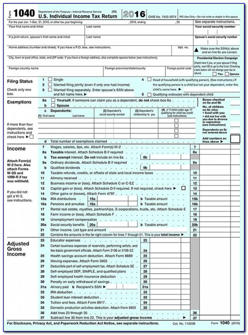Us Gov Tax Forms 1040ez