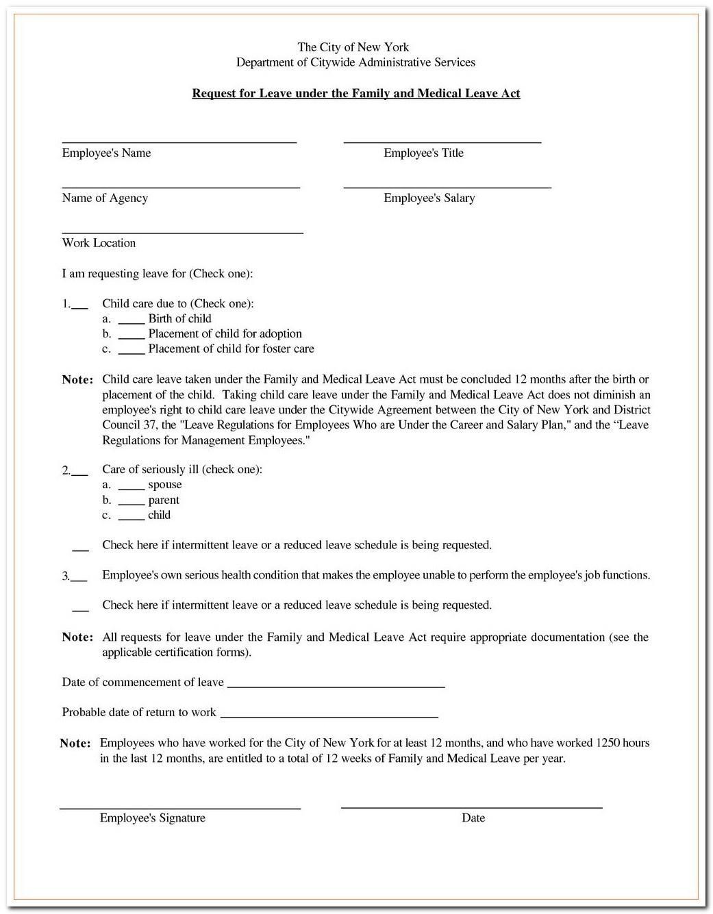 Usps Fmla Printable Forms