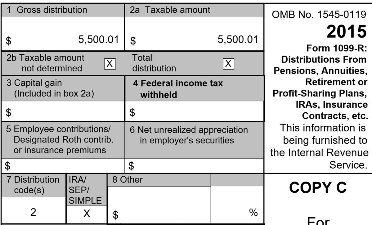 Vanguard Tax Form 1099 R