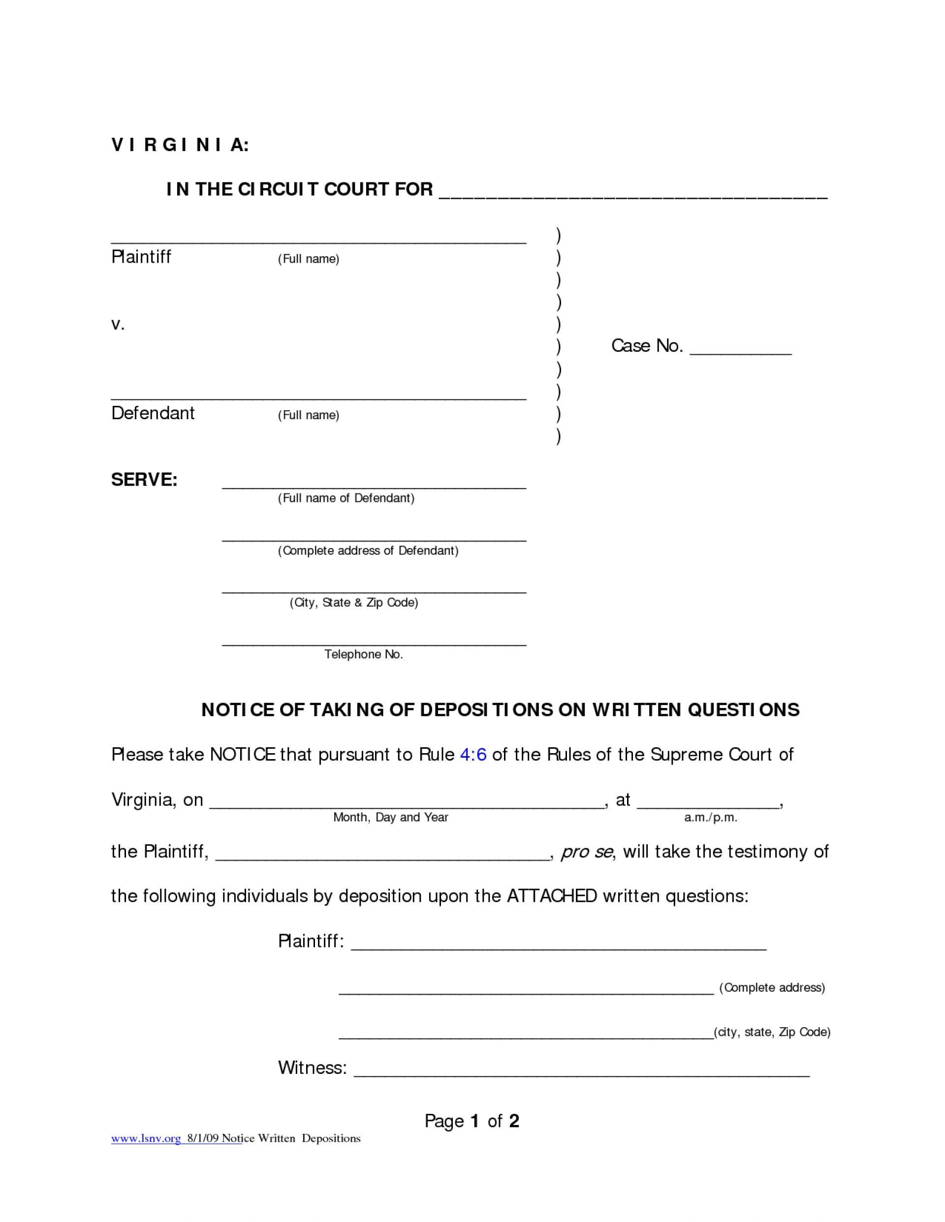 Virginia Divorce Filing Fee
