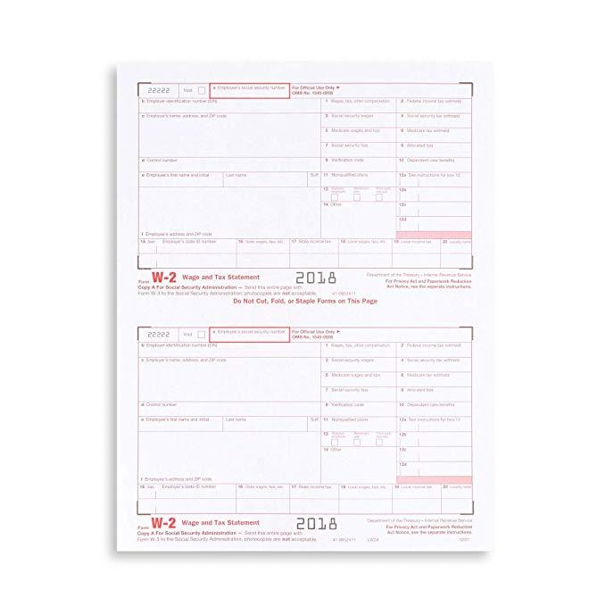 W2 Laser Tax Forms