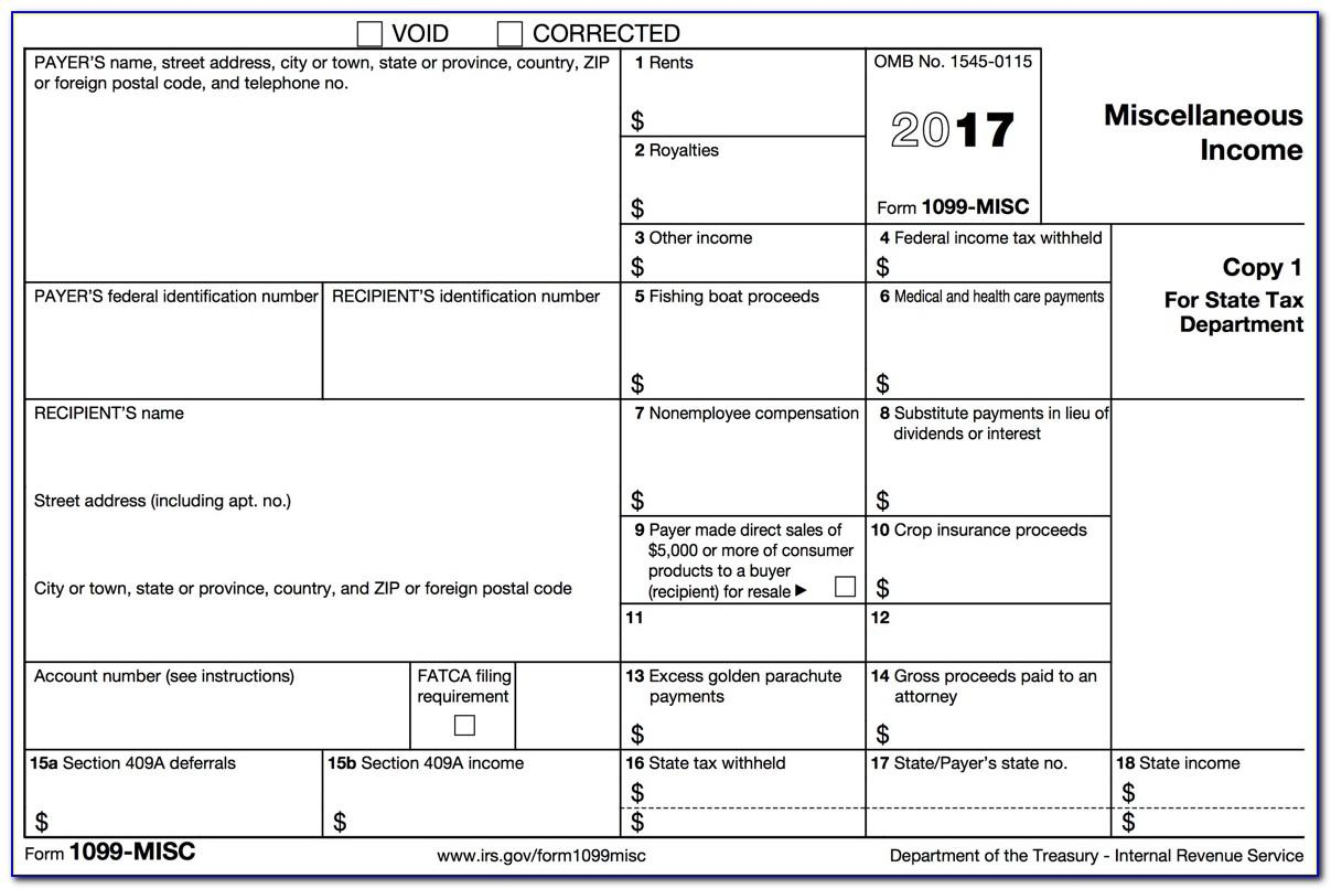 Where To Mail 1099 Misc Forms To Irs 2016