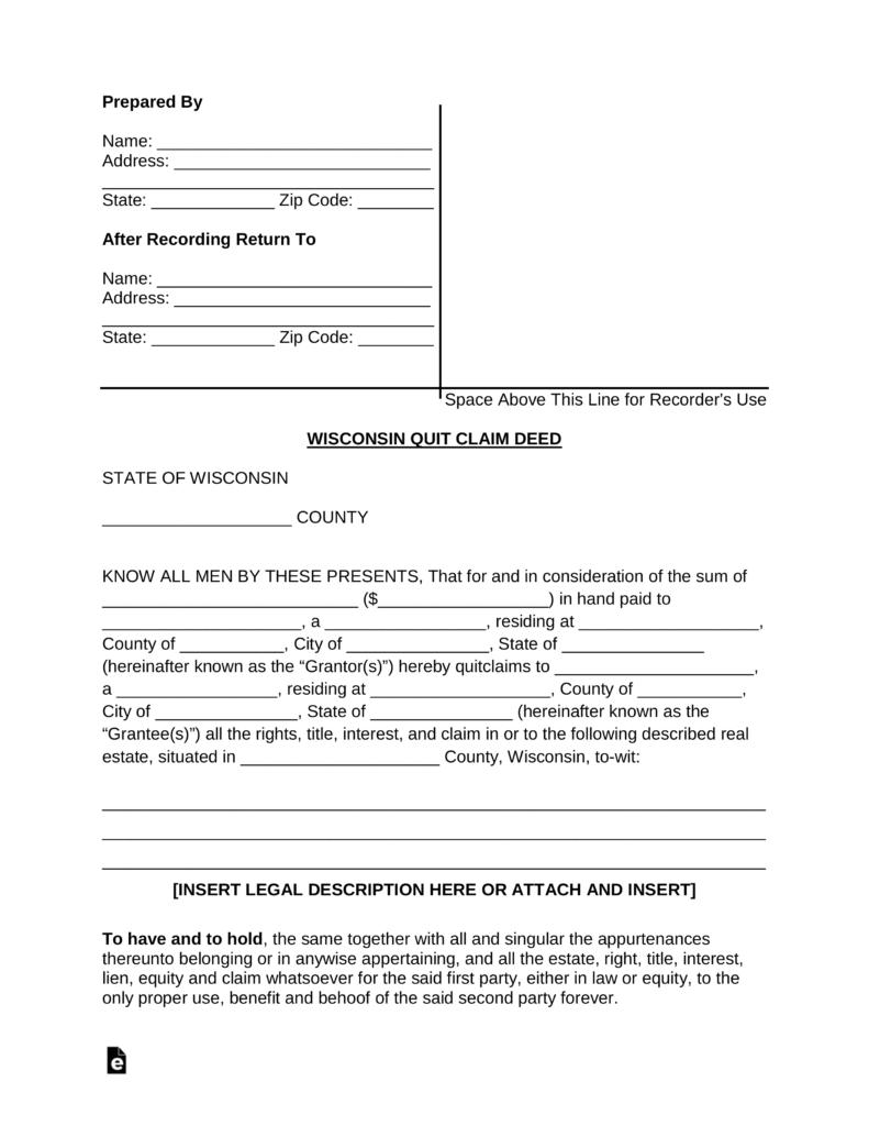 Wisconsin Divorce Forms Pdf