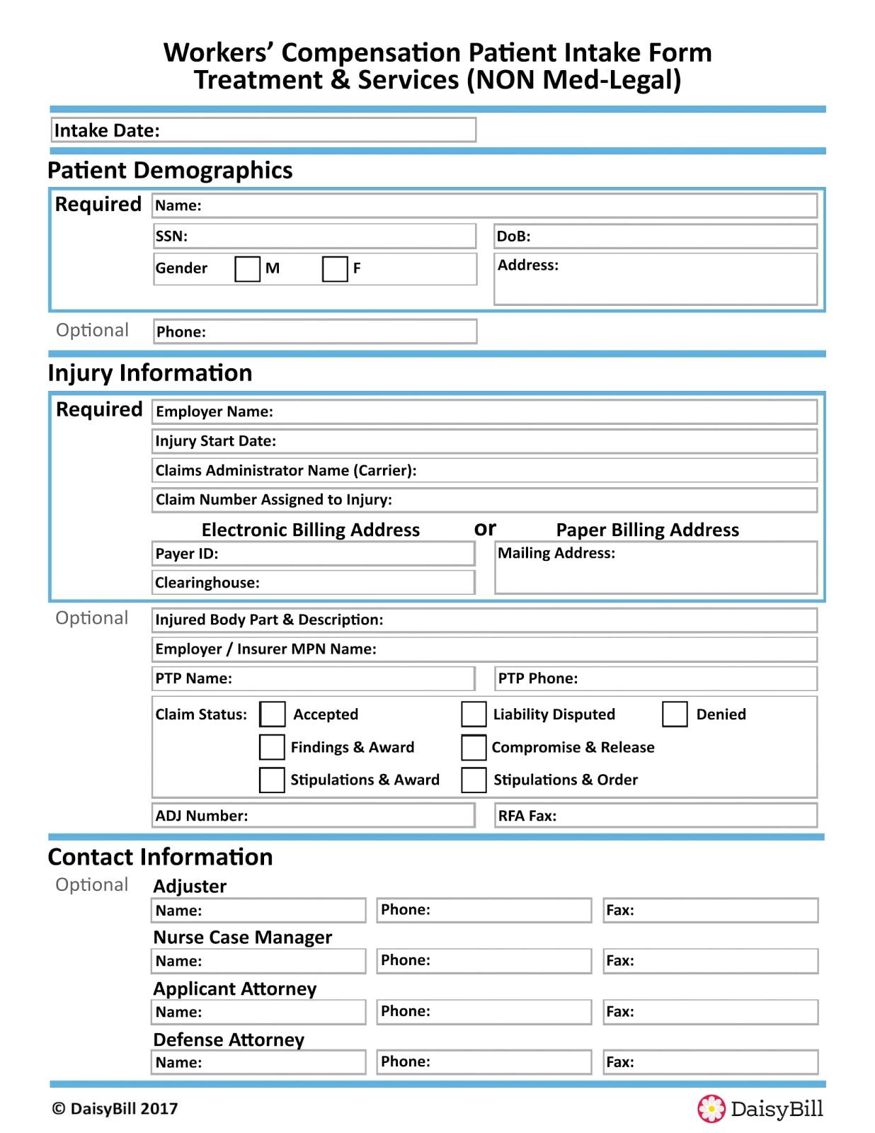 Workers Comp Waiver Form Georgia