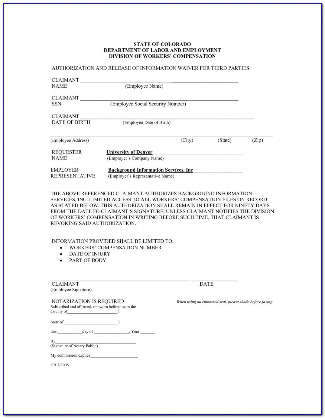 Workers Comp Waiver Form Missouri