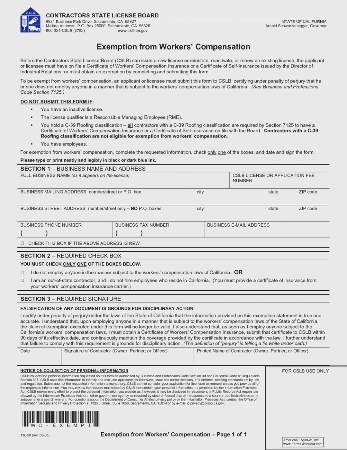Workers Compensation Waiver Form Arkansas