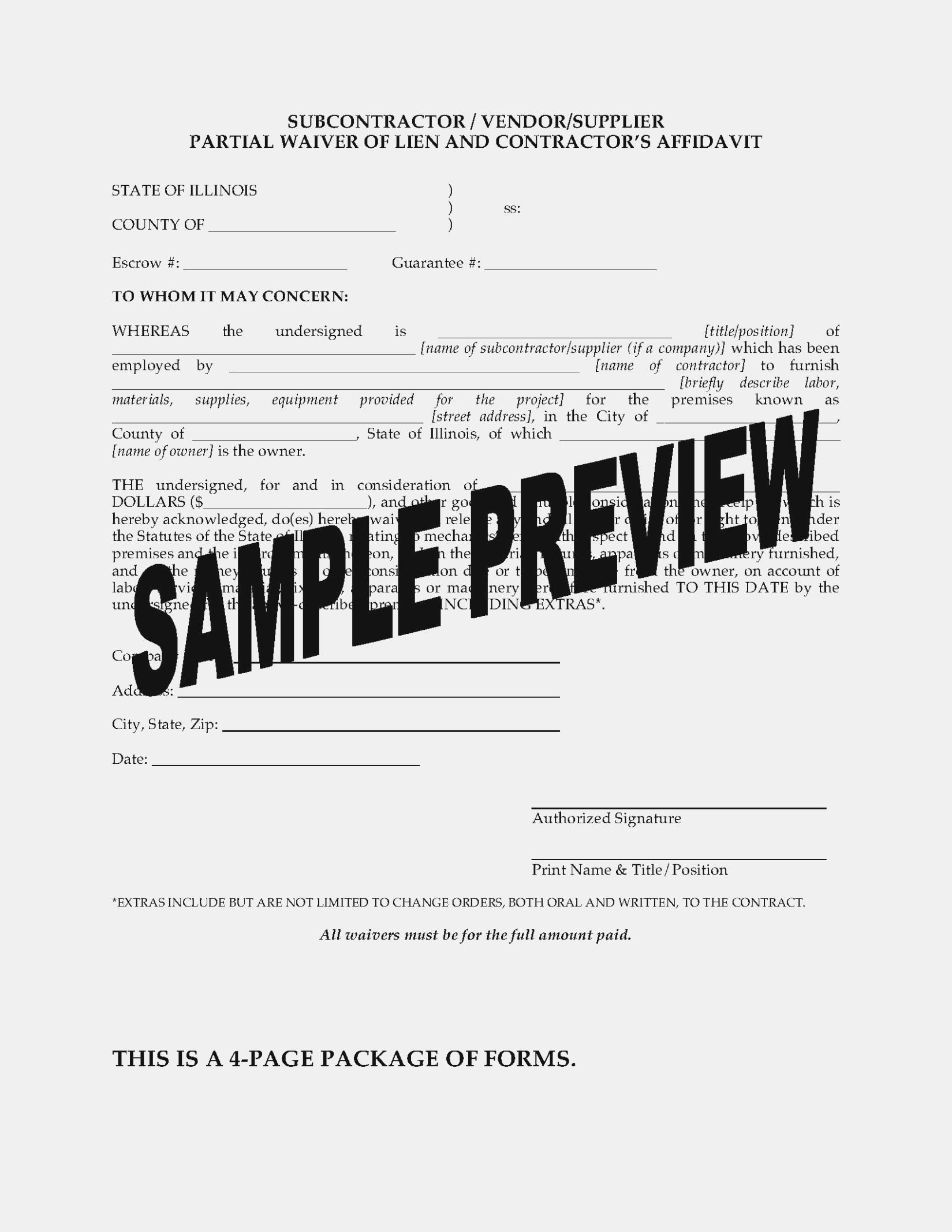 Workers Compensation Waiver Form Illinois