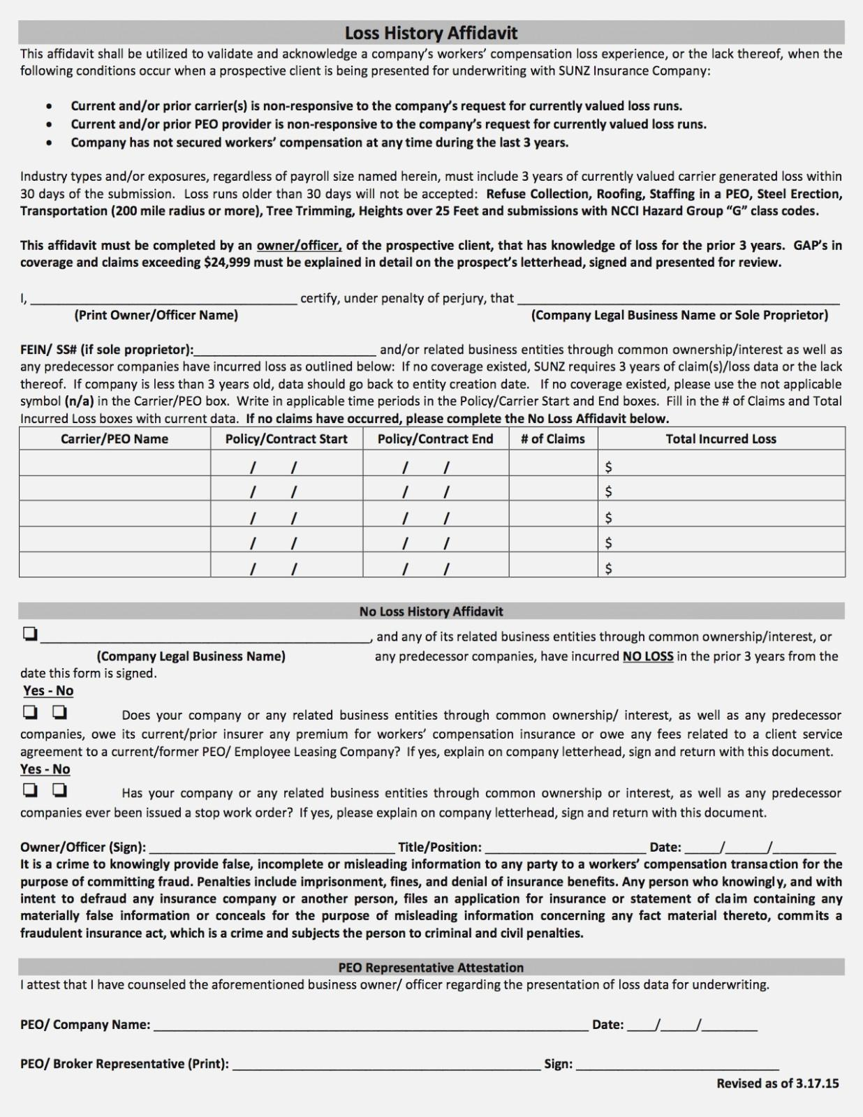 Workers Compensation Waiver Form Pa