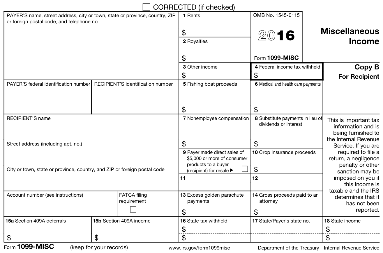 10 99 Tax Form 2017
