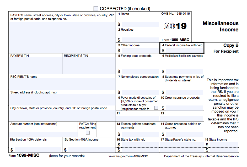1009 B Tax Form