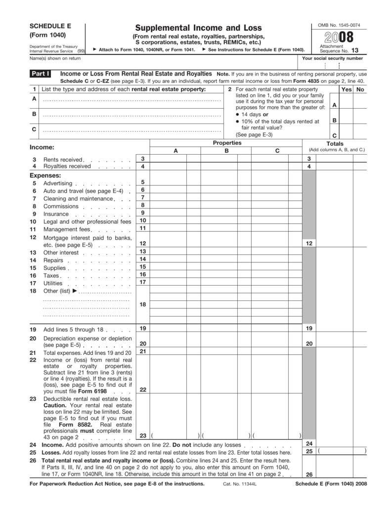1031 Exchange Form 1040